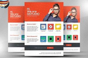 Flat Style Web Design Studio Flyer