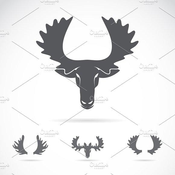 Vector Of Moose Head Animal