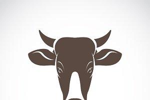 Vector of a cow head. Animal.