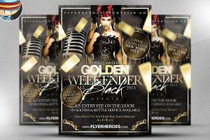 Golden Weekender Flyer Template