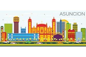 Asuncion Paraguay City Skyline