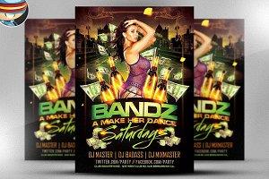 Bandz a Make Her Dance PSD Flyer
