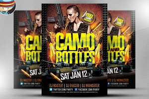Camo and Bottles Flyer Template
