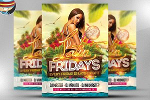 Latin Fridays Flyer Template