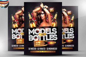 Models and Bottles Flyer Template