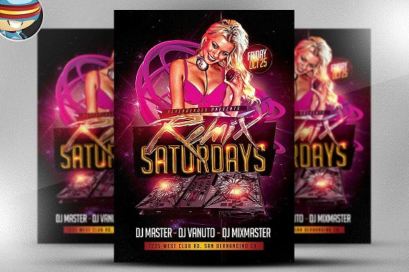 Remix Saturdays Flyer Template