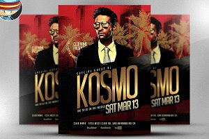 Kosmo DJ PSD Flyer Template