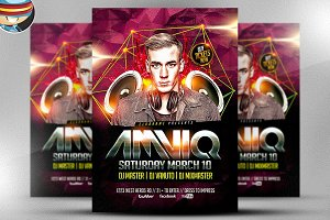 AMVIQ DJ Flyer Template