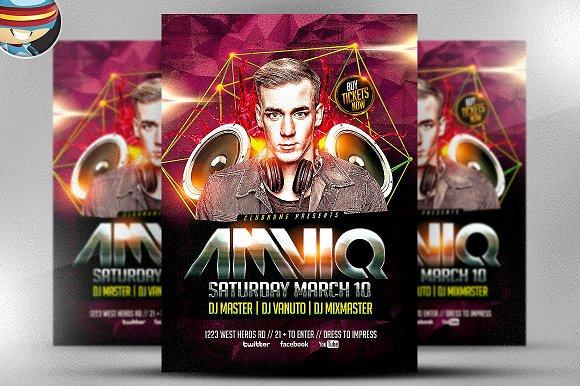 AMVIQ DJ Flyer Template