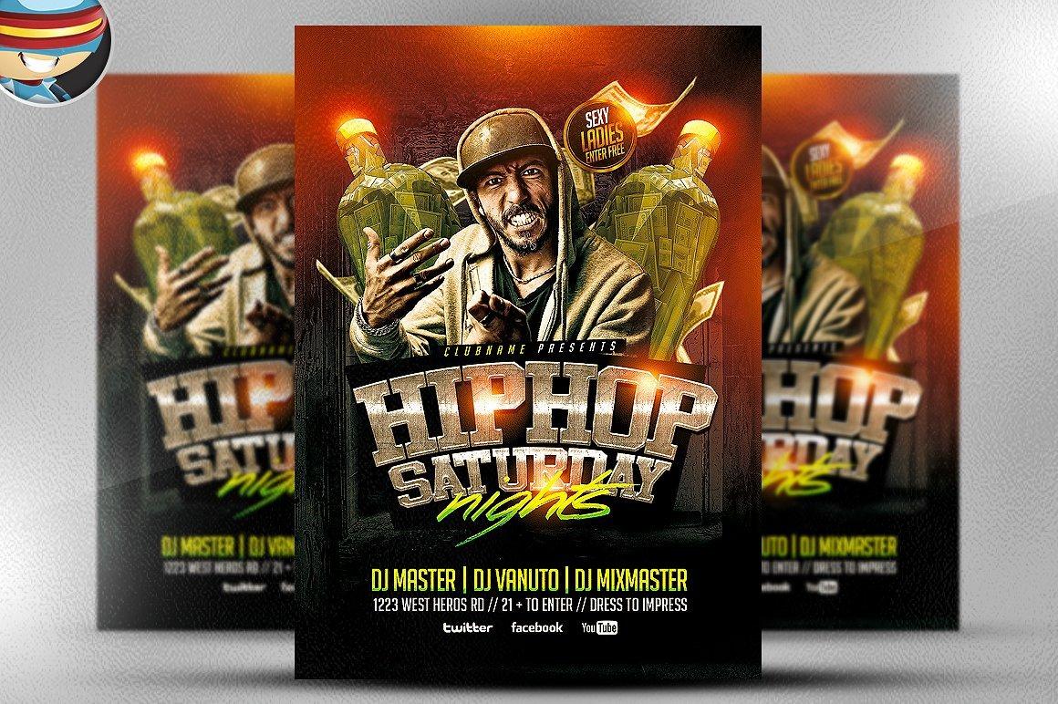 Hip Hop Saturdays Flyer Template Flyer Templates Creative Market