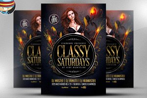 Classy Saturdays Flyer Template