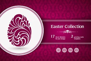 Easter decor elements set