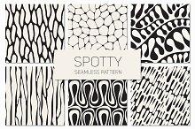 Spotty. Seamless Patterns Set