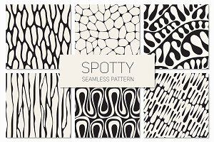 Spotty. Seamless Patterns Set