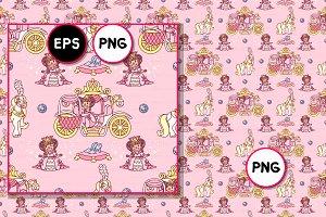 ♥ vector Royal seamless pattern