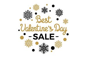 Best Valentines Day Sale Elegant Vector Concept