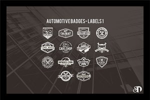 automotive badges and labels vol1
