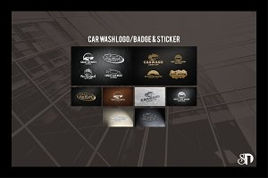 Car wash badges and labels vol2