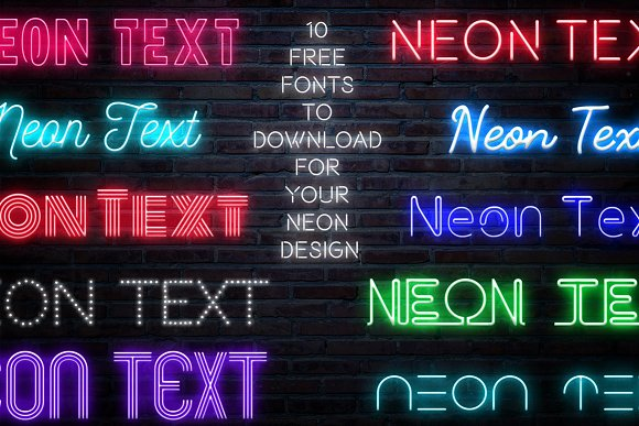 Neon Text Layer Styles Extras Creative Market