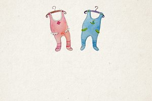 Twins baby arrival card