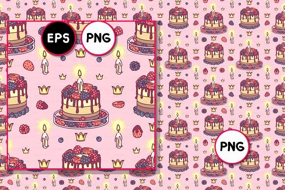 Vector Royal Sweets Pattern