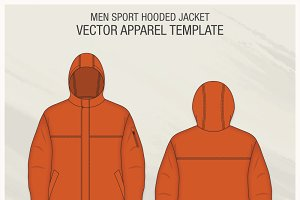 Men Sport Hooded Jacket Fashion Flat