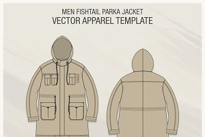 Men Fishtail Parka Jacket