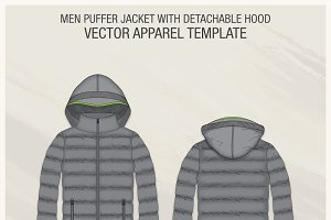 Men Hooded Puffer Jacket
