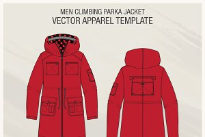 Men Climbing Parka Jacket