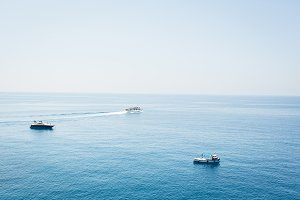 Boats On The Mediterranean Sea