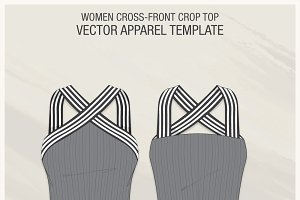 Women Cross-Front Crop Top