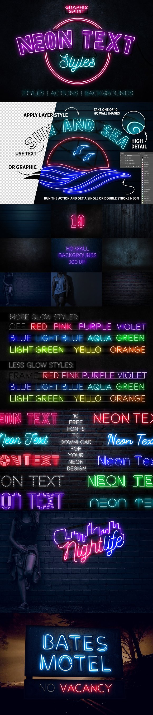 Neon Text Layer Styles Extras