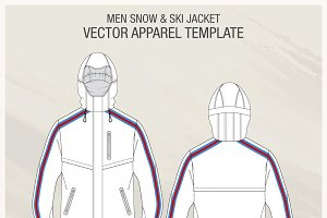 Men Snow and Ski Jacket Fashion Flat