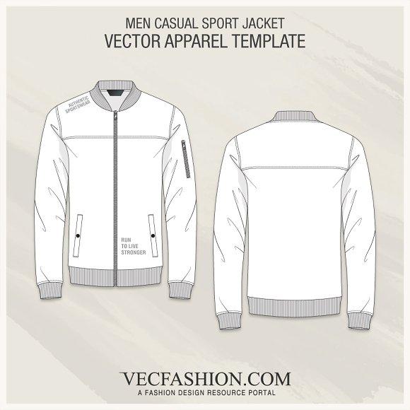 Men Casual Sport Jacket Illustrations Creative Market