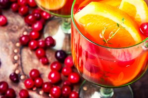 Refreshing Sangria drink