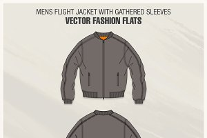 Mens Flight Jacket Fashion Flat