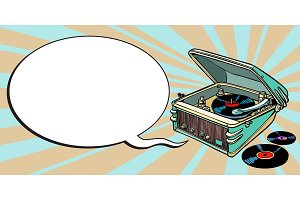 turntable comics, music and party