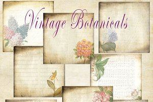 Vintage Botanical Background Papers