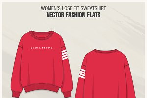 Women Lose Fit Sweatshirt