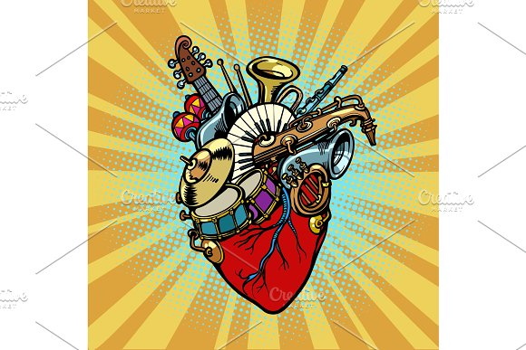 Music In The Heart Musical Orchestral Instruments