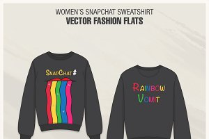 Women Snapchat Sweatshirt