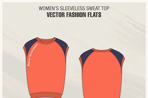 Women Sleeveless Sweat Top