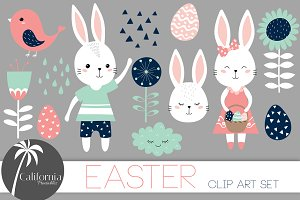 Scandinavian Easter Clip Art Set