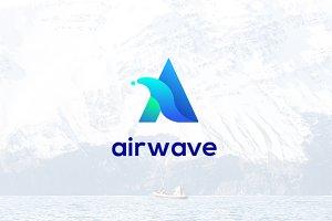 Letter A Logo - Air Wave Logo