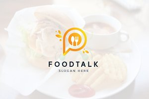 Letter P Logo - Food Talk Logo