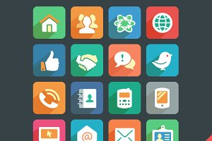 Communication and Media Flat Icons