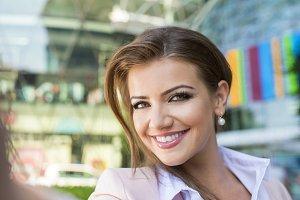 Beautiful young business woman