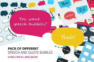 Smashing pack of speech bubbles