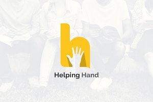 Letter H Logo - Hand Rise Logo