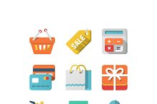 Shopping Icon Set for Web and Mobile